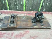 Antique Ajax Cast Iron Erector Steam Engine Motor And Pulleys E.1900's On Board
