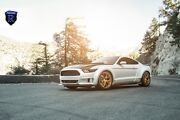 20x9 20x11 +48 Rohana Rfx5 5x114.3 Gold Wheel Fit Ford Mustang Gt 2015 Staggered
