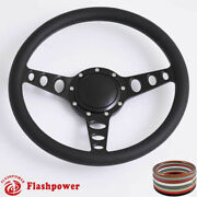 14and039and039 Billet Steering Wheels Half Wrap Restoration Chevy Ford Mopar W Horn Button