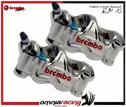 Left + Right Brembo Radial Racing Calipers Gp4 Rx - Racing/street Pads Included