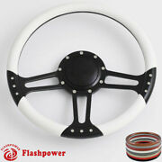14and039and039 Billet Steering Wheels White Wrap Gmc Trucks Blazer El Camino Jimmy W Horn