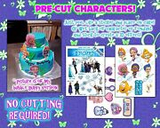 Edible Cake Stickers Toppers Decals Characters Frozen Bubble Guppies Fondant