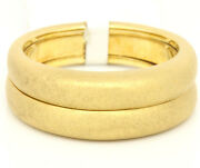 Vintage 18k Yellow Gold Matte Finished Band Ring Size 6.5
