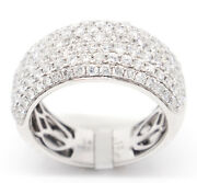14k White Gold Vs2-si11.98tcw Pave Rounds Diamonds Engagement Band Ring 6.75