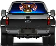 Eagel Usa Flag Military Navy Seabees 1 Rear Window Graphic Decal Truck Suv
