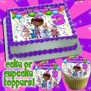Doc Mcstuffins Edible Cake Toppers Picture Sugar Tops Decal Paper Image Frosting