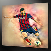 Lionel Messi Canvas Wall Art Picture Print Variety Of Sizes Free Uk Pandp