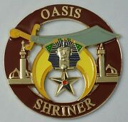Shriners Oasis Cut Out Car Emblem In Brown