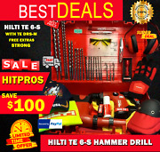 Hilti Te 6-s Hammer Drill L@@k With Te Drs-m Free Extras Strong Fast Ship