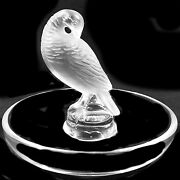 Turtledove Pin Tray Crystal Lalique New In Box 3 Tall 10716 Made In France