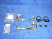1953-56 Ford Truck F-1 Outside Door Handles Pair With Pads 716