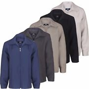 Mens Golf Light Weight Jacket Sizes S- 5xl Summer Cool Top With Flap Collars