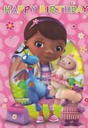 Doc Mcstuffins Happy Birthday Edible Cake Topper 1/4 Or 1/2 Sheet Frosting