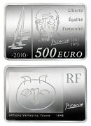 France 2010 Picasso 1 Kilo Silver Proof Coin With Box