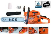 58cc Petrol Chainsaw Complete 2.4kw 3.3 Hp 20 Mandr Brand With Extra Chain