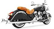 Freedom True Dual Headers Exhaust W/ Sharktail Tip Chrome Indian Chieftain