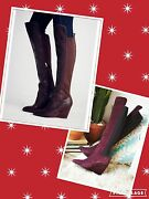 Free People Size 7.5,8us Charles David Salina Tall Wedge Boot Brown,berry New
