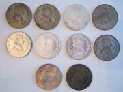 18 Vtg Mexican Un Peso Coins - From 1957 - 1966 - From Aged To Fine -ofc-rclot7