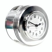 1940and039s Radial Engine Beechcraft Staggerwing Piston Chrome Aviation Desk Clock