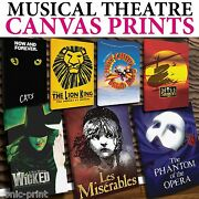 Musical Theatre Canvas - Many Sizes Available - Free Uk Pandp