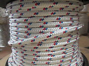 Anchor Line Dock Line 9/16 X 150and039 Double Braid Polyester Rope Made In Usa