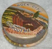 Rock City Lovers Leap Lookout Mt. Advertising Tape Measure,novelty,