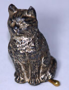 Antique C1800's Figural Cat W/ Collaspable Tail Tape Measurenovelty