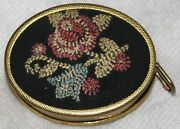 Antique Embroidered Roses On An Ovel Backdrop Tape Measure,novelty