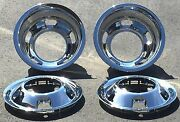 New Chrome Simulators For Dodge Ram 3500 1-ton Truck Dually 2 Front And 2 Rear