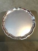 12 Sterling Silver Tray By Poole Chippendale