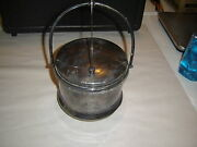 Vintage F.b. Rogers Silver On Copper Ice Bucket Engraved Major Ab Adversis 110