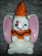 Vintage Walt Disney Old Fashioned Dumbo Coin Bank Figurine Collectible Antique