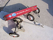 Radio Jet Wagon Vintage Rare Full Size 34 Red And White For Parts As Is
