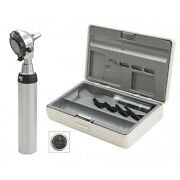 Heine Beta 400 Led Otoscope Set With Beta 4 Usb Rechargeable Handle In Hard Case