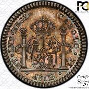 Finest And Only Pcgs Ms63 1790 Mexico 1 Reale Proclamation Medal Grove C-140 Toned