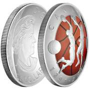 2016 Canada 25 1 Oz Colorized Proof Silver Domed 125th Basketball