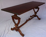 1920and039s Walnut Sofa Table Console Table Fits Spanish Revival 31h X 72w 6719