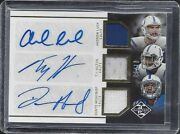 Andrew Luck Ty Hilton Donte Moncrief 2014 Limited Triple Jersey Auto Rc D 5/10