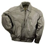 American Fashion Bomber Jacket Genuine Leather - Zip Lining Mens Brown New Wtags
