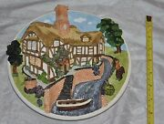 David Winter Cottages Collectors Guild Wall Plaque On The Riverbank