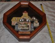 David Winter Cottages Collectors Guild Framed Wall Hanging Piece.