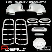 03-06 Chevy Silverado Chrome Covers Mirror 2 Door Handle Tailgate Taillight Gas