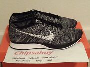 Nike Flyknit Racer Oreo 2.0 Grey White Black Zoom Air Trainer Shoe Ds Size 11