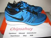 Nike Flyknit Trainer Blue Glow Racer Zoom Air Woven Olympic Shoe Ds Size 8