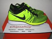 Nike Flyknit Trainer Volt Black Neon Racer Zoom Air Woven Olympic Shoe Ds Size 8