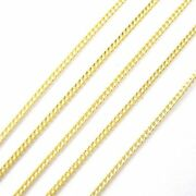 Gold Plated Sterling Silver Chain 1mm Curb Chain Bulk By The Foot Unfinished