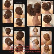 22 Real Hair Hairdressing Cosmetology Shoulder Mannequin Manikin Training Head