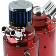 Add W1 Universal Oil Catch Tank + Breather Can Reservoir Boost Turbo Red