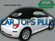 2003-11 Volkswagen Beetle Convertible Top And Heated Glass Black Stayfast Cloth