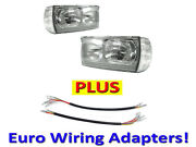 Depo 77-85 Mercedes Benz W123 Euro Glass Headlight+corner+wiring Adapter Pair